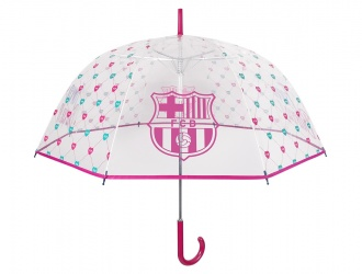 15201<br>Umbrella lady dome shape aut.  transparent poe FC Barcelona<br>