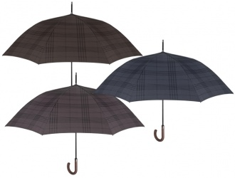 21672<br>Umbrella Men Golf 69/8 Auto. Plain Colour Stripes Technolo.<br>