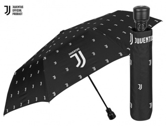 15214<br>Umbrella mini auto. 54/8 windproof black team Juventus<br>