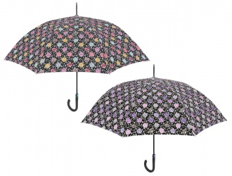 21654<br>Umbrella lady stick auto. 63/8 polka dots ramage Technology<br>