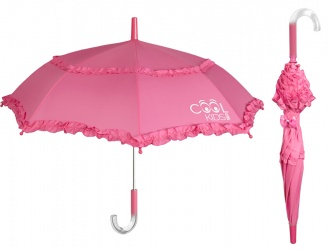 15551<br>Parapluie canne manuel 42/8 ouvert. sécur. rose Cool Kids<br>
